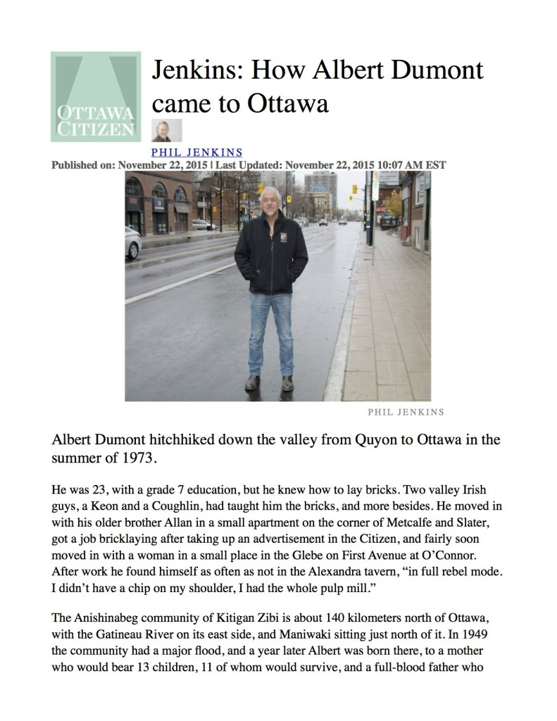 Ottawa Citizen article Nov. 22, 2015