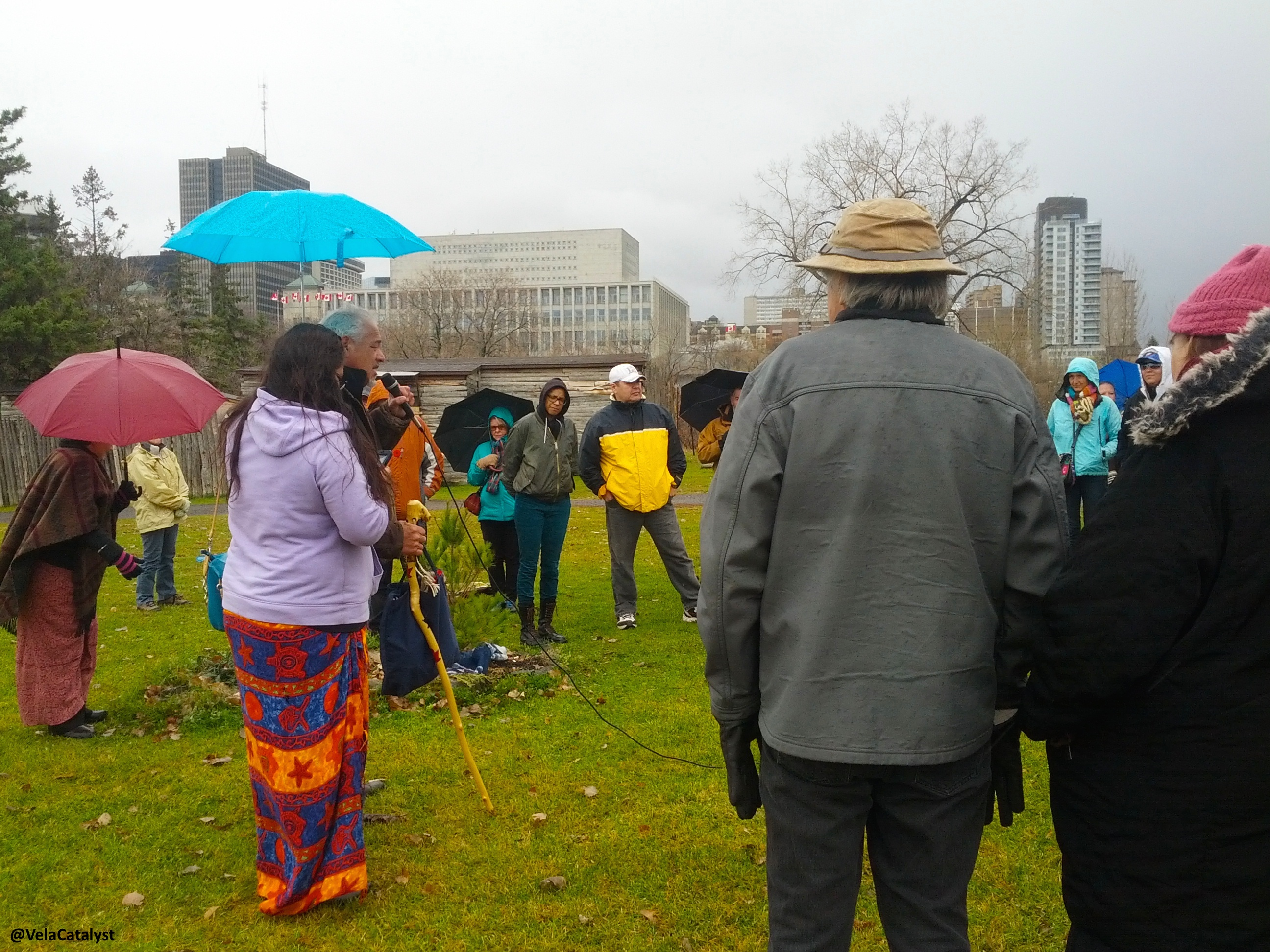 """Prayer and opening for 13 Nov """"Anishnabe Cultural Demo to Protect our Sacred Site"""""""