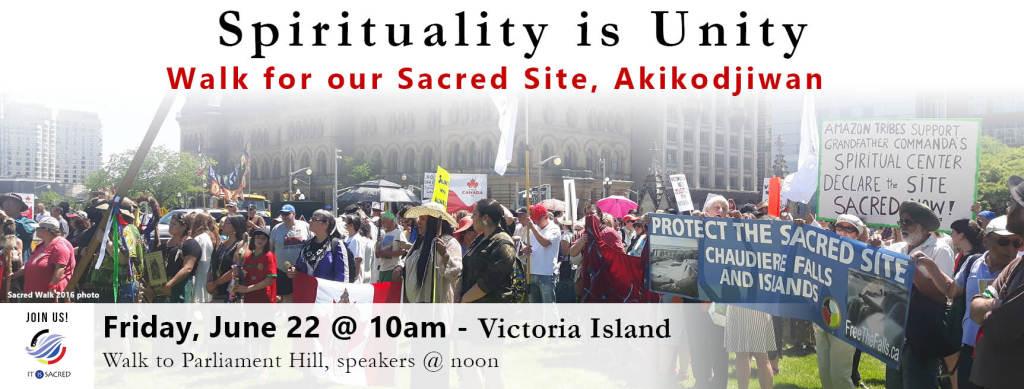 Algonquin Anishinabe, Sacred, Walk, Akikodjiwan
