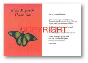 Kichi Migwech, Thank You